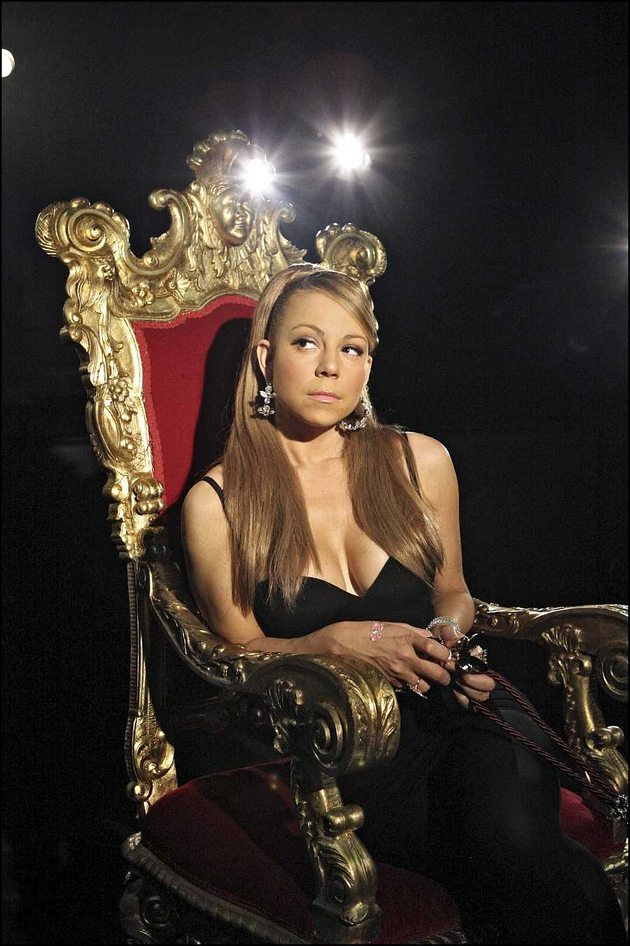 Mariah Carey en el rodaje de un sketch para el Friday Night Project en 2008