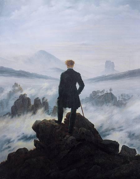 'El caminante sobre el mar de nubes' de Caspar David Friedrich