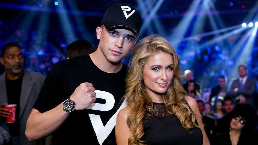 River Viiperi con su ex Paris Hilton en el año 2013