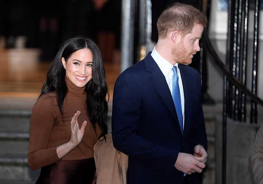 Meghan y Harry en la Casa de Cánada de Londres.