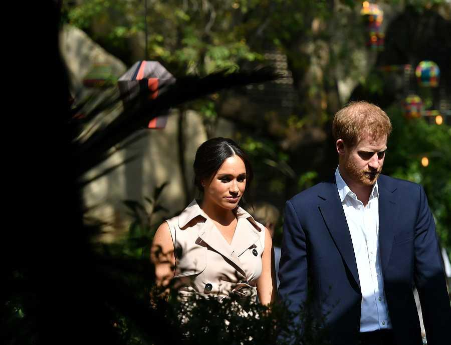 Meghan y Harry en Johannesburgo