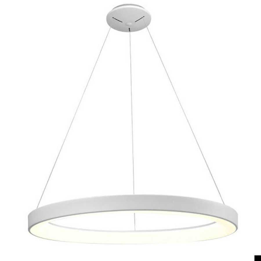 Lámpara circular, colgante de leds. Como la que se encuentra en el despacho de la Reina Letizia en Zarzuela