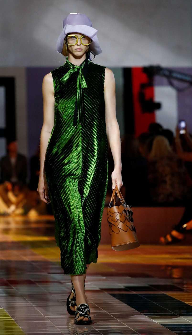 Vestido verde de Prada