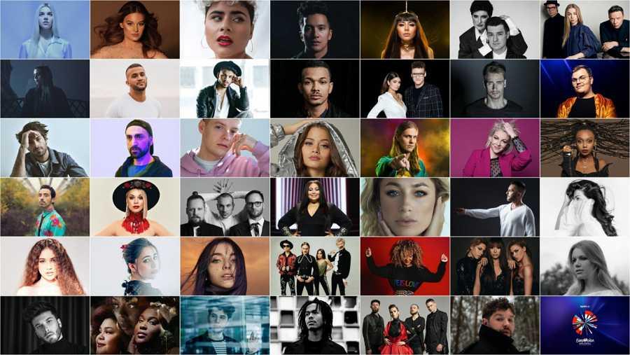Los artistas de Eurovisión 2020