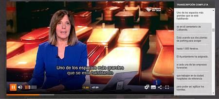 Captura del Telediario 1 edición del día 2 de abril de 2020, con Ana Blanco presentando.