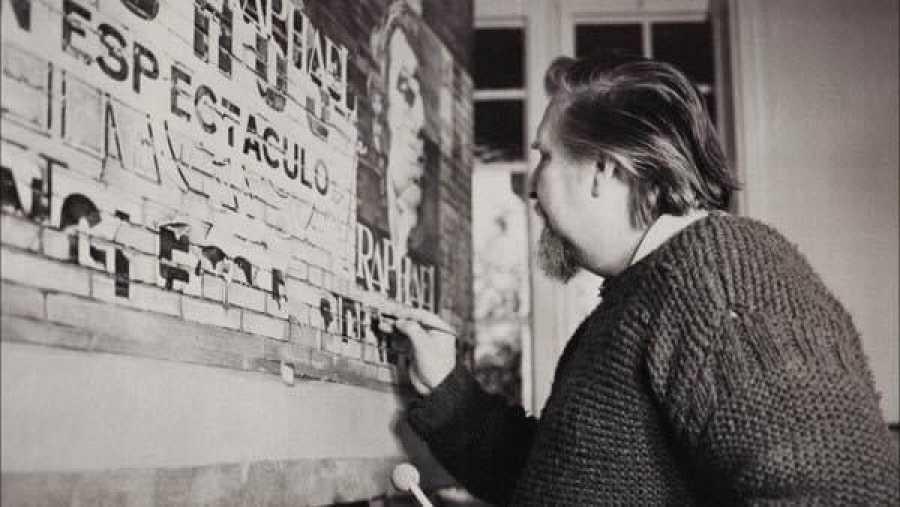 Rudolf Häsler en su taller de Sant Cugat