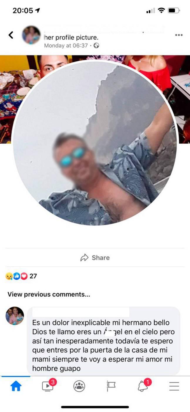 Las condolencias que la familia dejó en sus redes sociales.