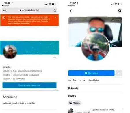 Captura de las redes sociales de la víctima.
