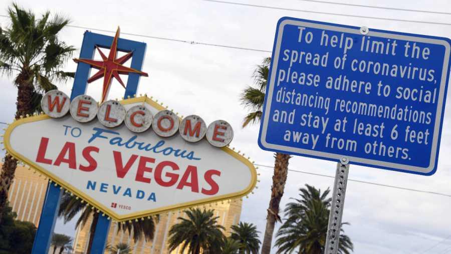 Imagen: Cartel sobre el coronavirus en Las Vegas