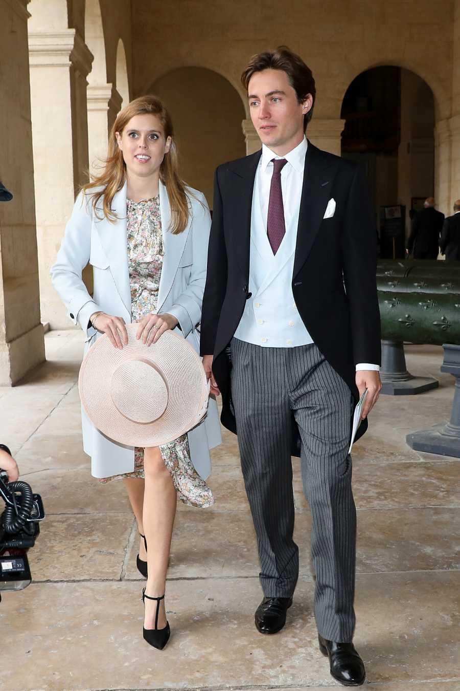 Beatriz de York con Edoraro Mapelli en una boda en pasado octubre