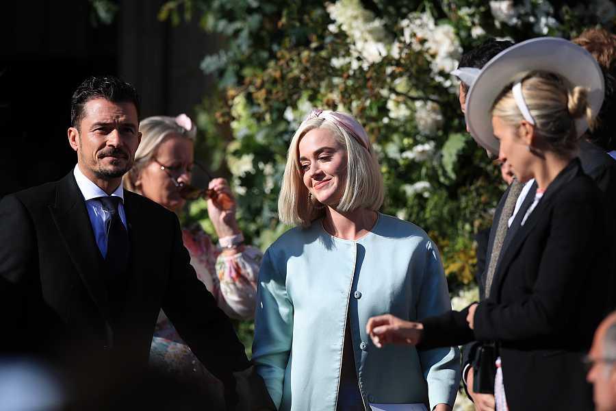Katy Perry y Orlando Bloom en la boda de unos amigos