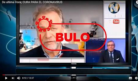 Captura del vídeo que está viralizándose de este supuesto científico alemán.