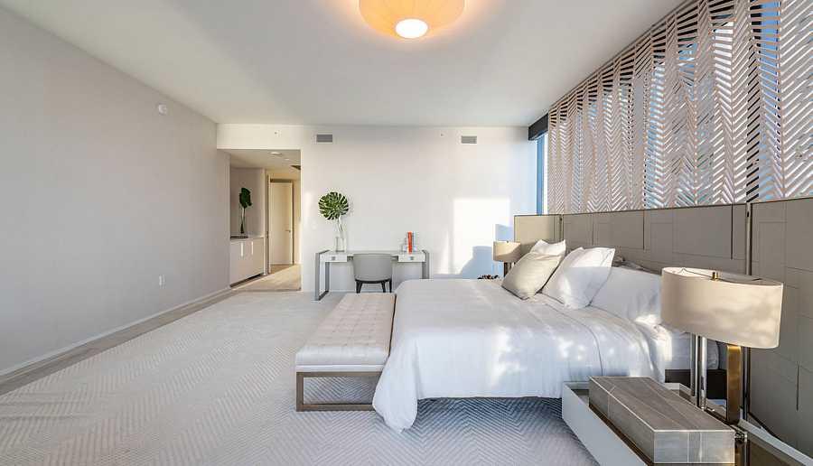 Así es una de las cinco habitaciones de la casa de los Beckham