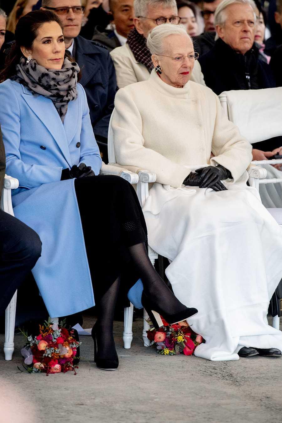 La reina Margarita II con Mary Donaldson.