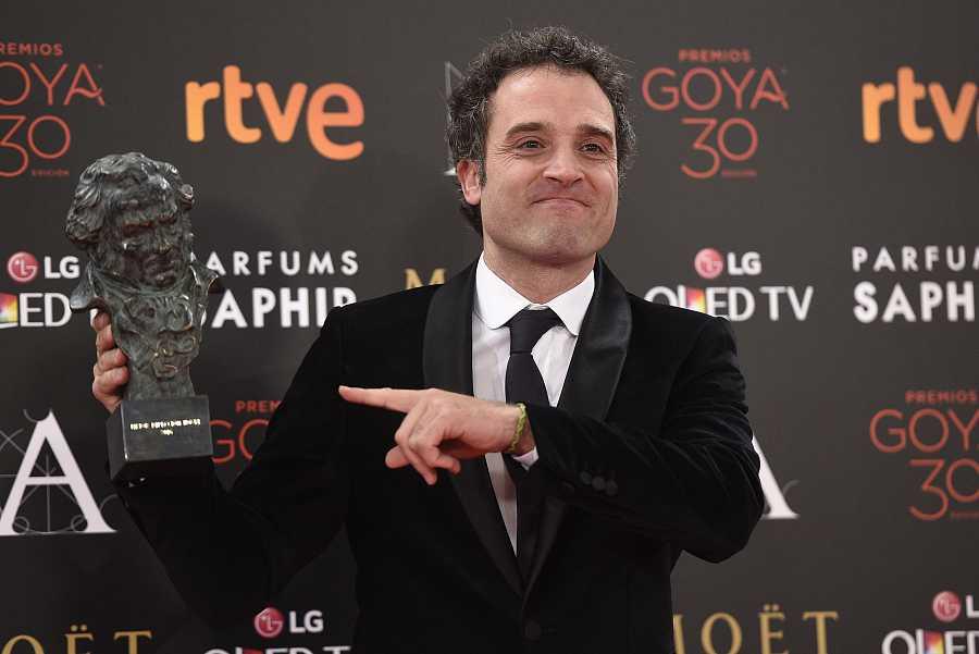 Daniel Guzmán en la 30 Edición de la Gala de los Goya, el 6 de febrero de 2016