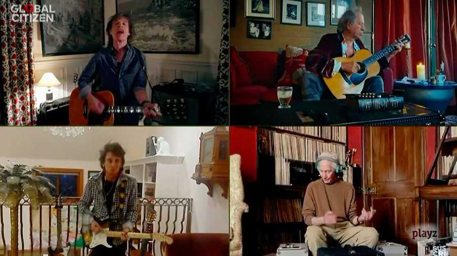 The Rolling Stones, la mítica banda británica reunida contra el coronavirus