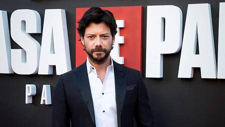 Álvaro Morte, en la presentación de la tercera temporada de 'La casa de papel'.