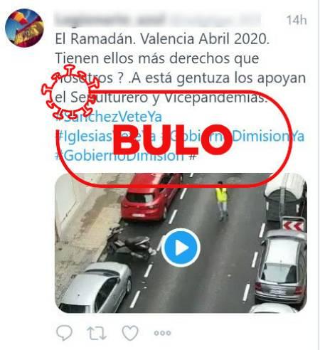 La imagen de una procesión de musulmanes en Valencia es de 2018