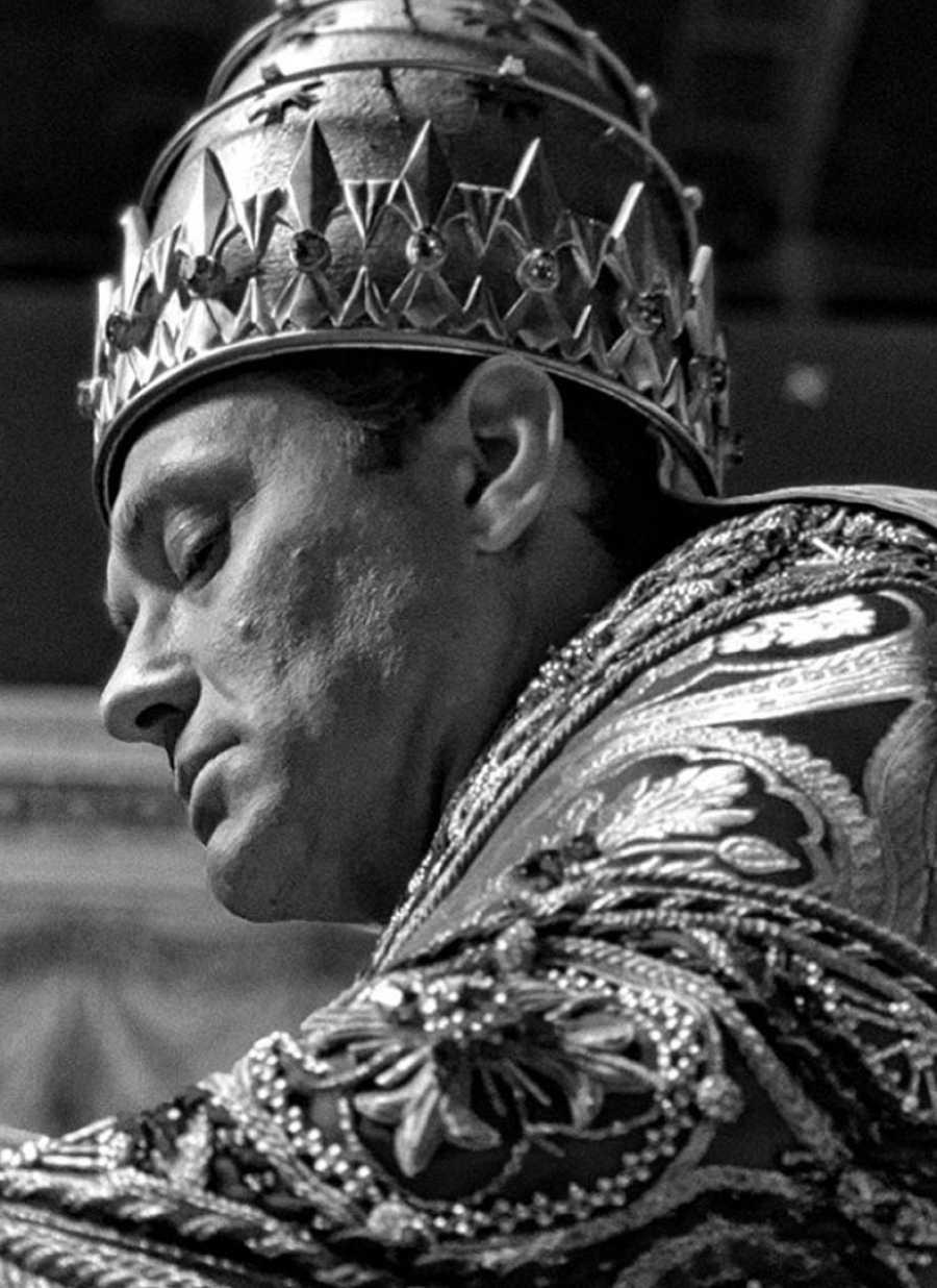 Jude Law en el rodaje de 'The New Pope', la serie de Paolo Sorrentino