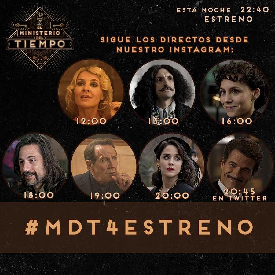 Horario de los encuentros con el elenco de 'El Ministerio del Tiempo'