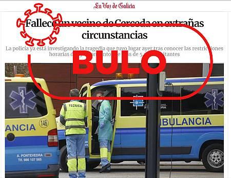 No, no ha muerto ningún vecino de Cerceda (Galicia)