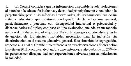 Comité sobre los Derechos de las Personas con Discapacidad de la ONU