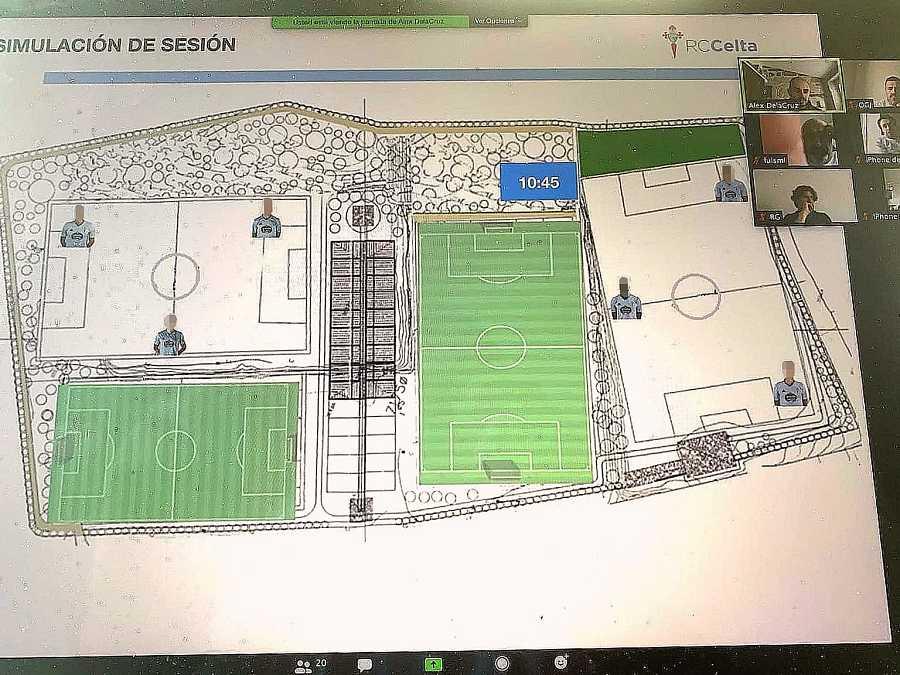 Imagen del plan de entrenamiento que prepara el Celta publicado por su técnico, Óscar García