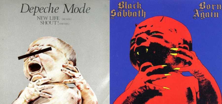 'New Life' (Depeche Mode, 1981) y 'Born Again' (Black Sabbath, 1983) trabajan sobre la imagen del mismo bebé, portada de la revista 'Mind Alice' en 1968