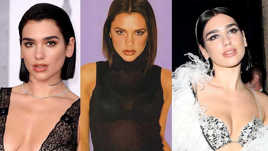Dua Lipa y el look de Victoria Beckham a finales de los años 90