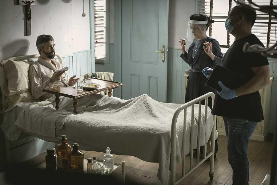 Imagen del rodaje de 'Acacias 38'