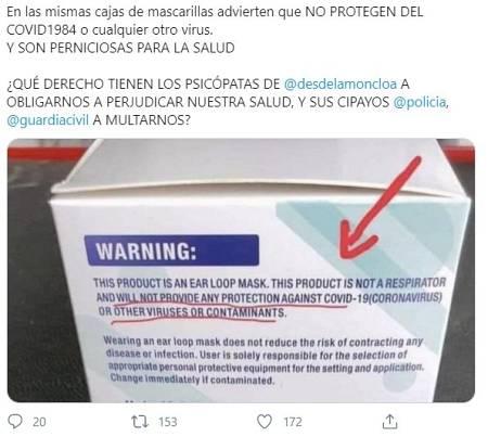 El bulo ha llegado a España y ha sido viralizado en redes sociales por algunos usuarios