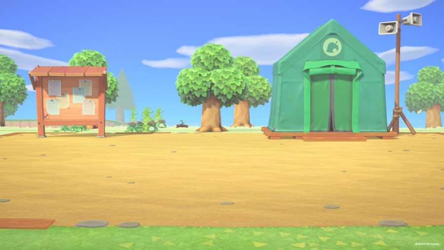 Plaza de Animal Crossing: New Horizons durante los primeros días de juego