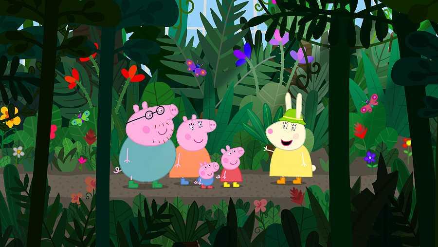 Paseo por el bosque con Peppa Pig