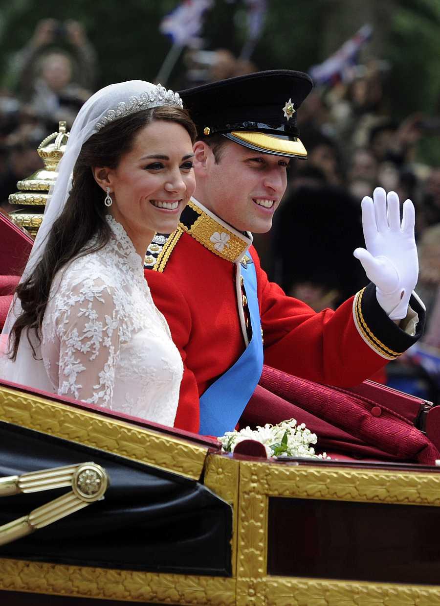 El príncipe Guillermo y su mujer, Kate Middleton, recién casados