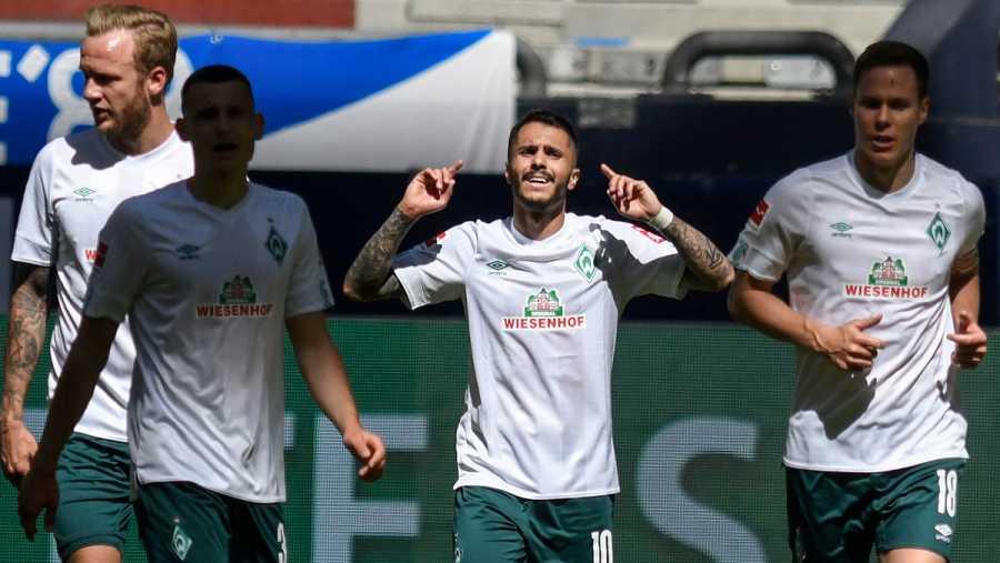 Imagen: Bittencourt celebra el gol de la victoria del Werder Bremen