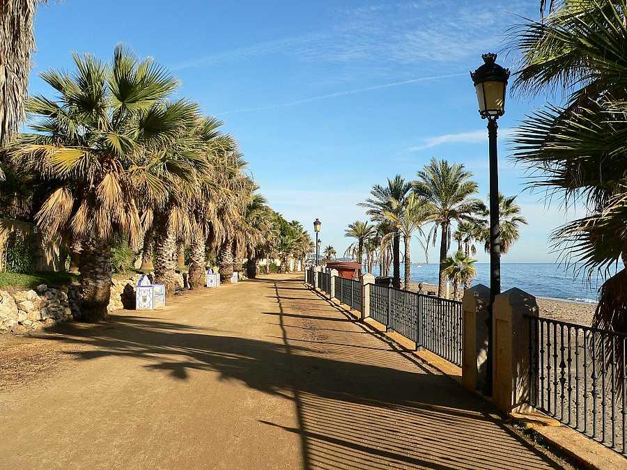 Marbella pedestrian way at coastline