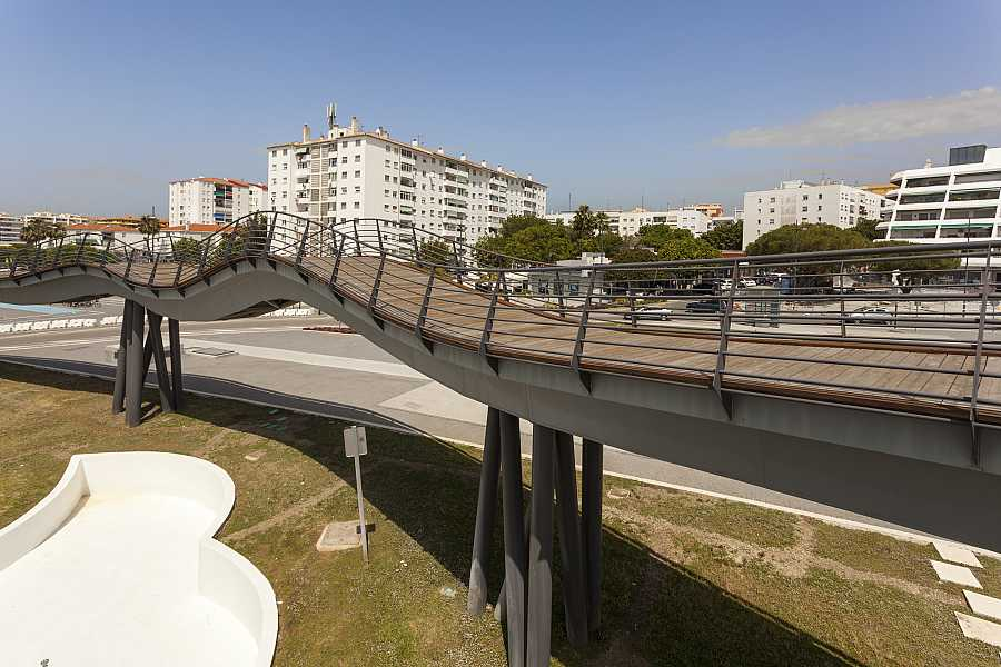 Pedestrian bridge in San Pedro de Alcantara, Spain