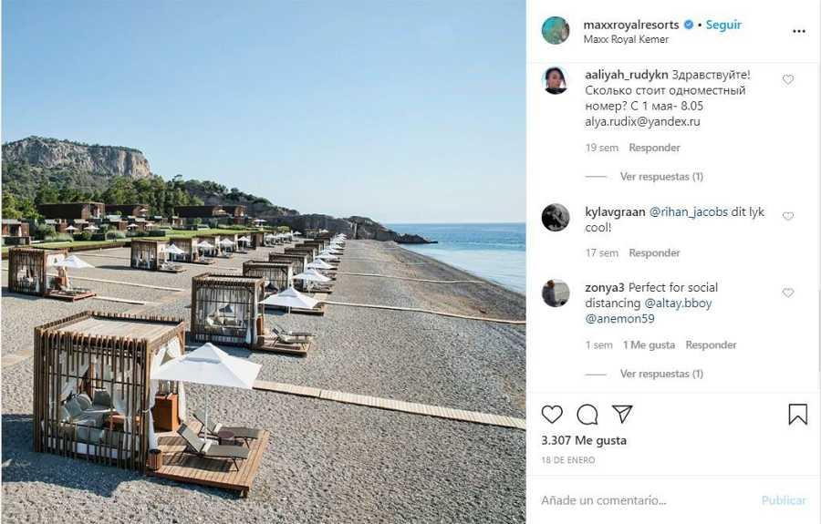 El perfil de Instagram del hotelturco Maxx Royal Kemer Resort publicaba el 18 de enerola fotografía que se ha viralizado.