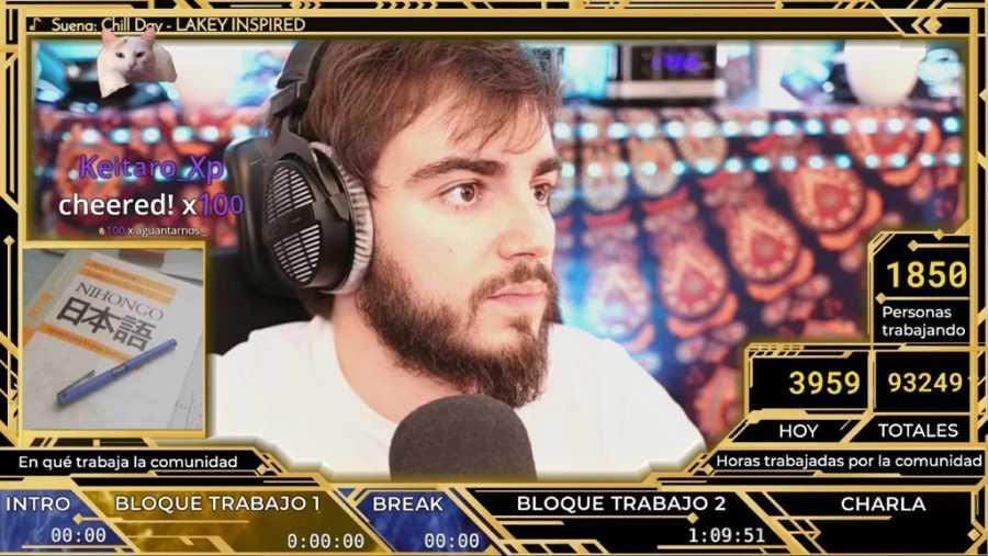 Jaime Altozano durante uno de sus directos en Twitch