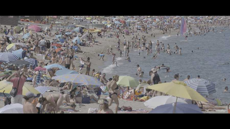 Playa masificada