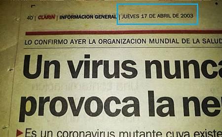 Detalle con la fecha de publicación de la noticia en el diario Clarín