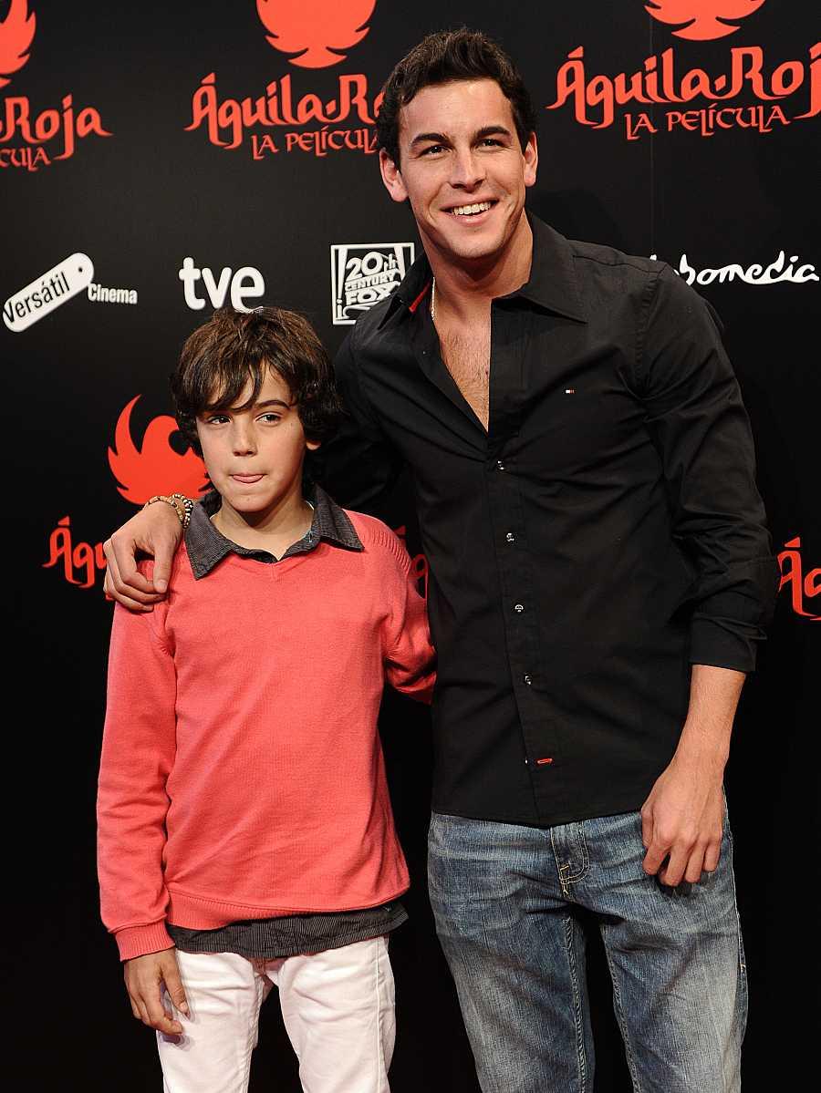 Óscar empezó como actor muy pequeño en Aguila Roja