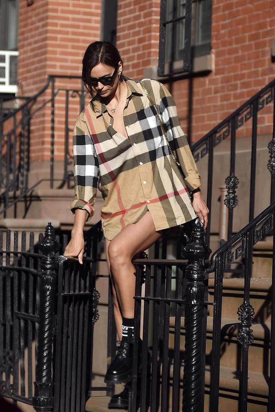 La modelo Irina Shayk, espectacular en un día de diario