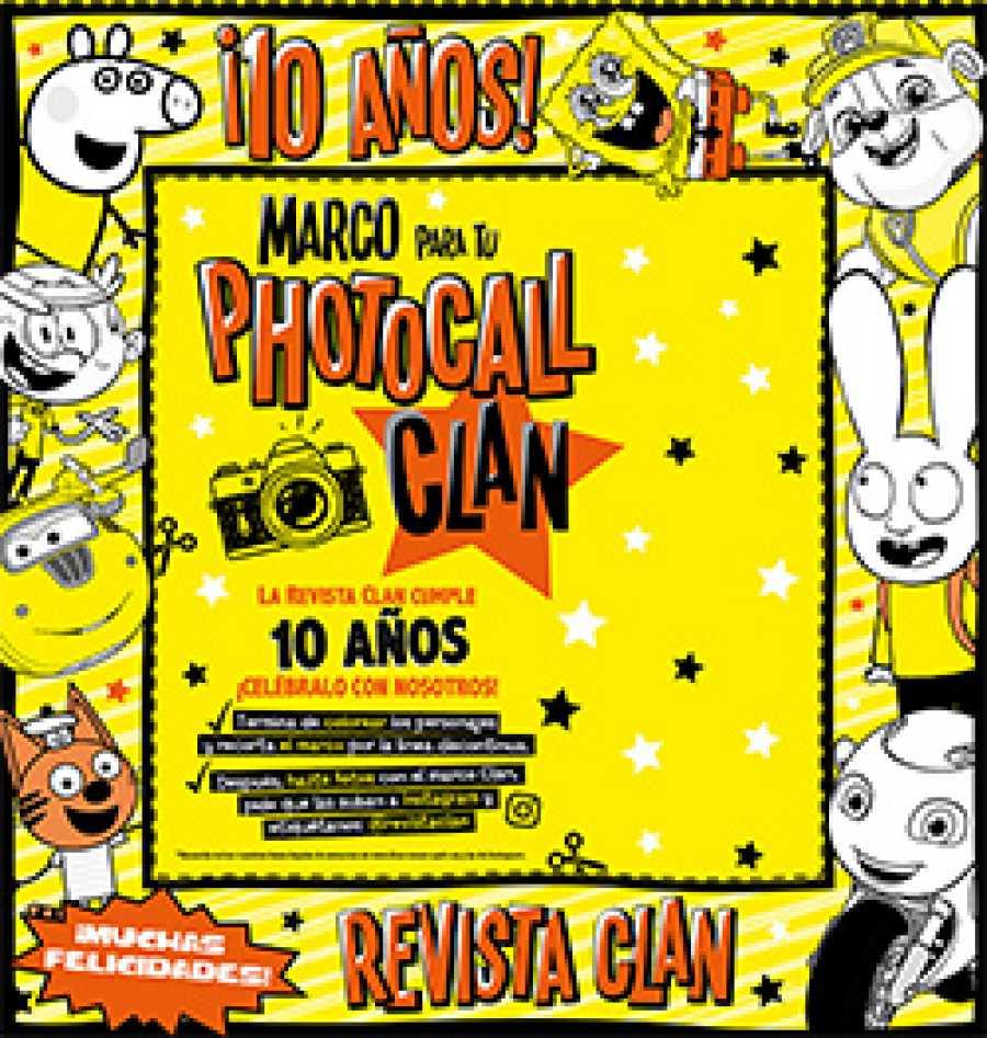 Revista Clan Junio 2020 - Photocall cartón Revista Clan Junio 2020
