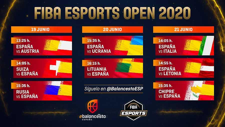 Horarios del 'FIBA eSports Open'