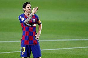 Messi celebra su gol ante el Leganés