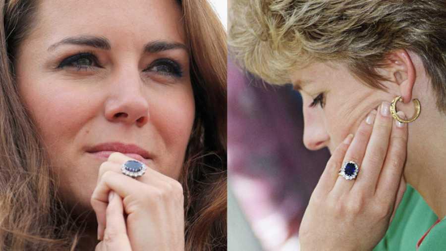 El anillo de compromiso de Lady Di y Kate Middleton causó controversia en la Casa Real