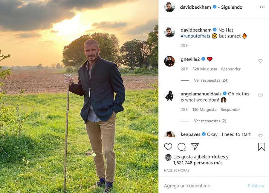 David Beckham en Instagram
