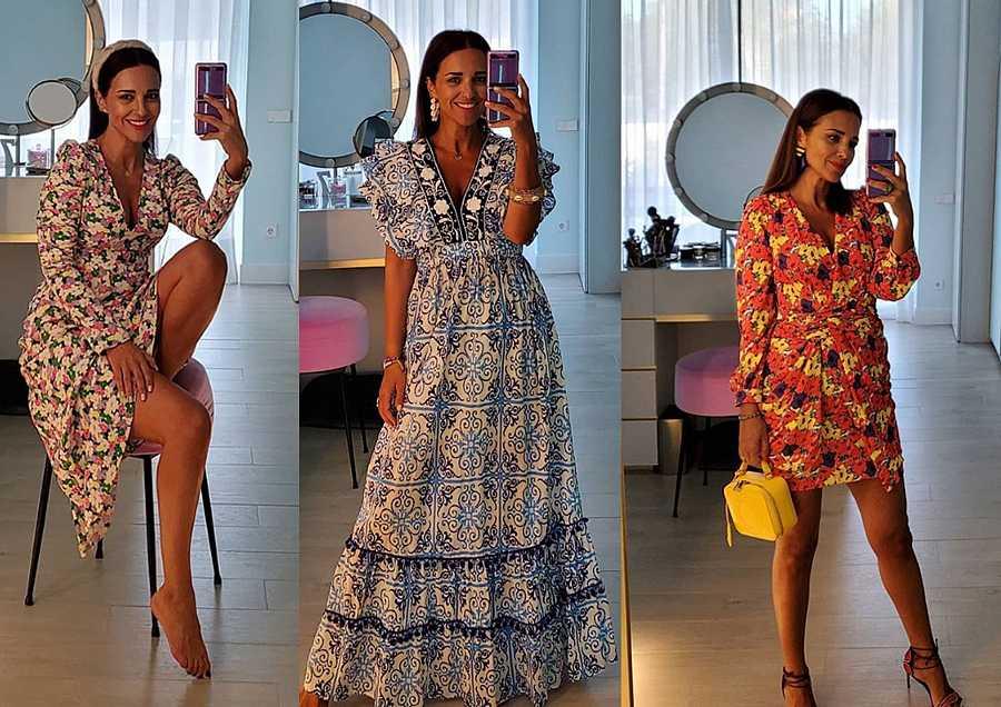 Algunos de los modelitos estampados que acumula Paula Echevarría