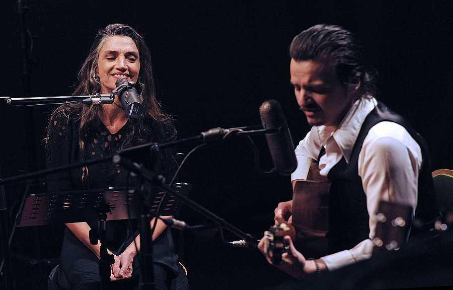 Coque Malla y Ángela Molina, en el concierto 'Mujeres' de 'La 2 es Música'